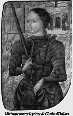 Miniature ornant le poeme de Charles d'Orleans